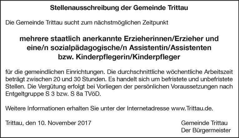 Erzieherinnen/Erzieher / sozialpädagogische/n Assistentin/Assistenten