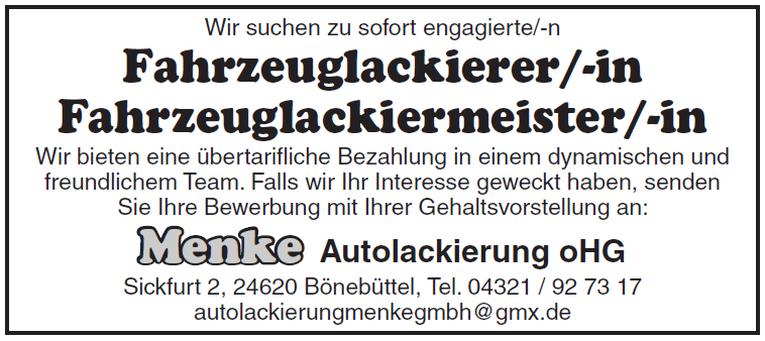 Fahrzeuglackierer/-in, Fahrzeuglackiermeister/-in