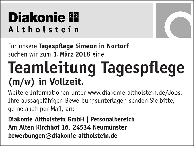 Teamleitung Tagespflege (m/w)