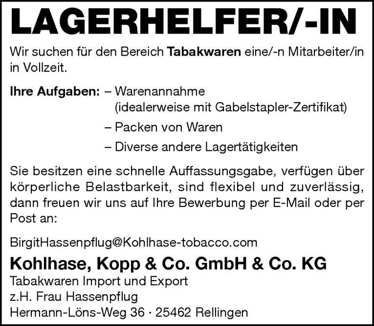Lagerhelfer/-in