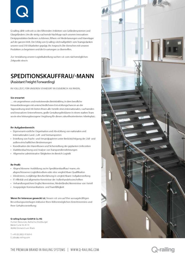 Speditionskauffrau/-mann