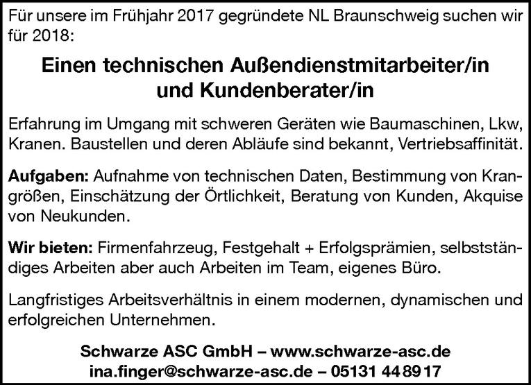 technische/r Außendienstmitarbeiter/in und Kundenberater/in
