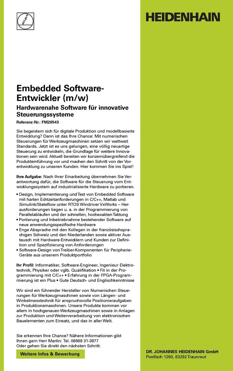 Embedded Software-Entwickler (m/w)