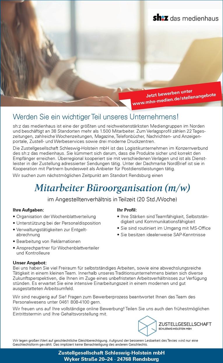 Mitarbeiter Büroorganisation (m/w)