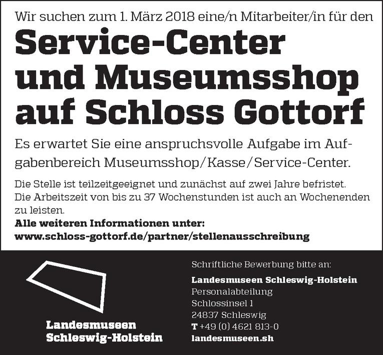 Mitarbeiter/in für den Service-Center und Museumsshop