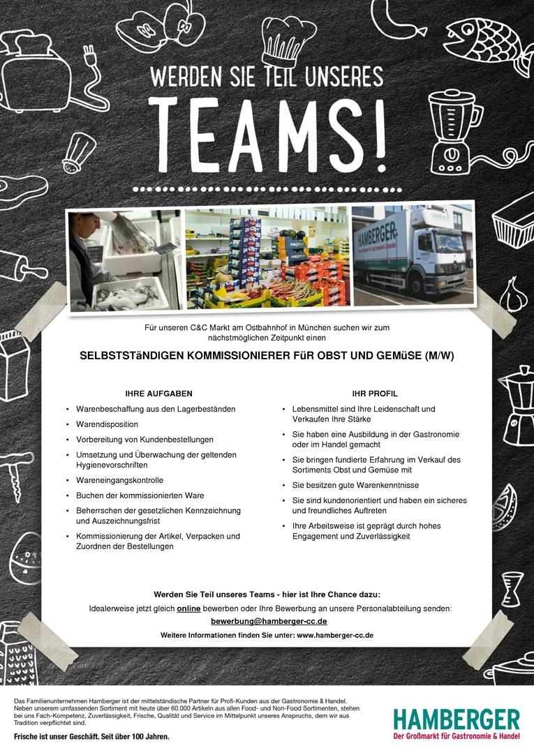 Selbstständigen Kommissionierer für Obst und Gemüse (m/w)