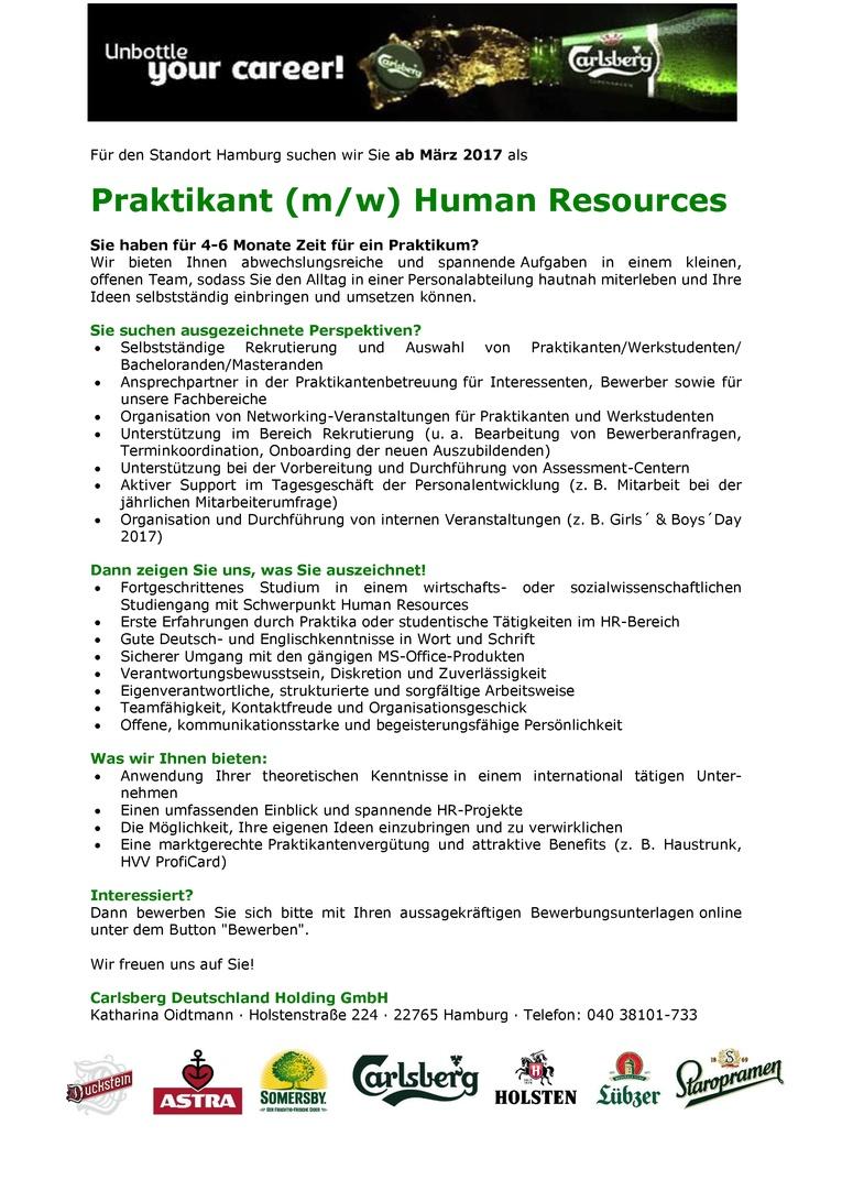 Praktikant (m/w) Human Resources