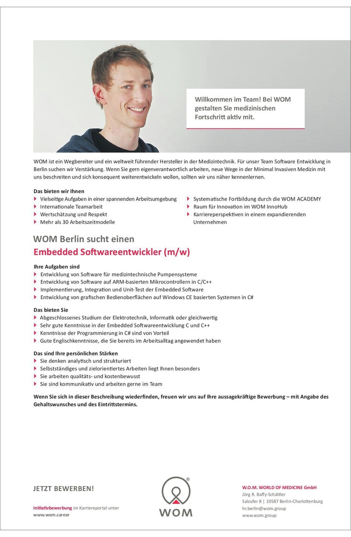 Embedded Softwareentwickler (m/w)