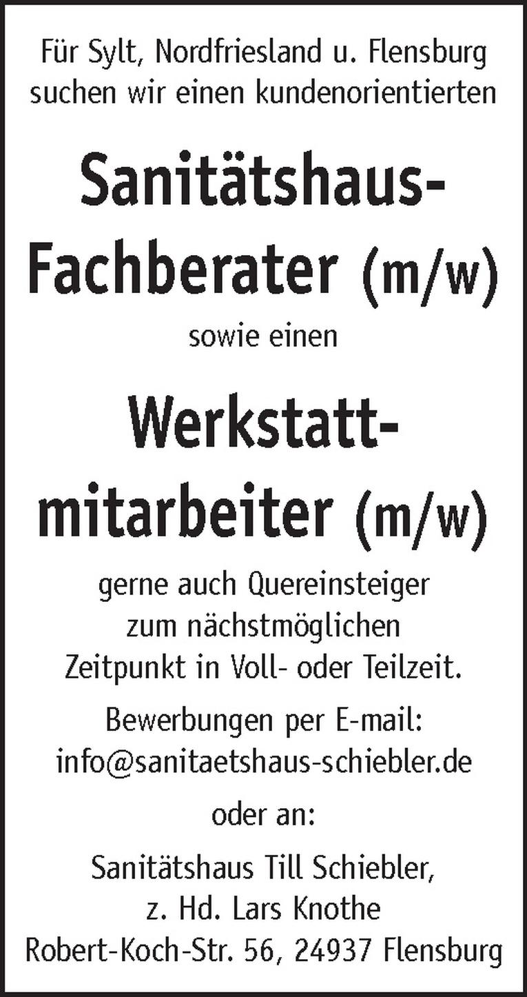 Werkstattmitarbeiter (m/w)