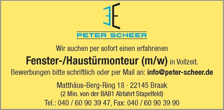 Fenster-/Haustürmonteur (m/w)