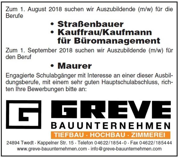 Ausbildung Straßenbauer • Kauffrau/Kaufmann für Büromanagement • Maurer