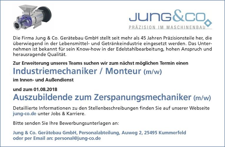 Industriemechaniker / Monteur (m/w)