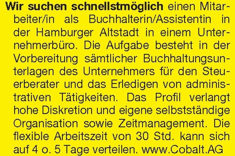Buchhalterin / Assistentin