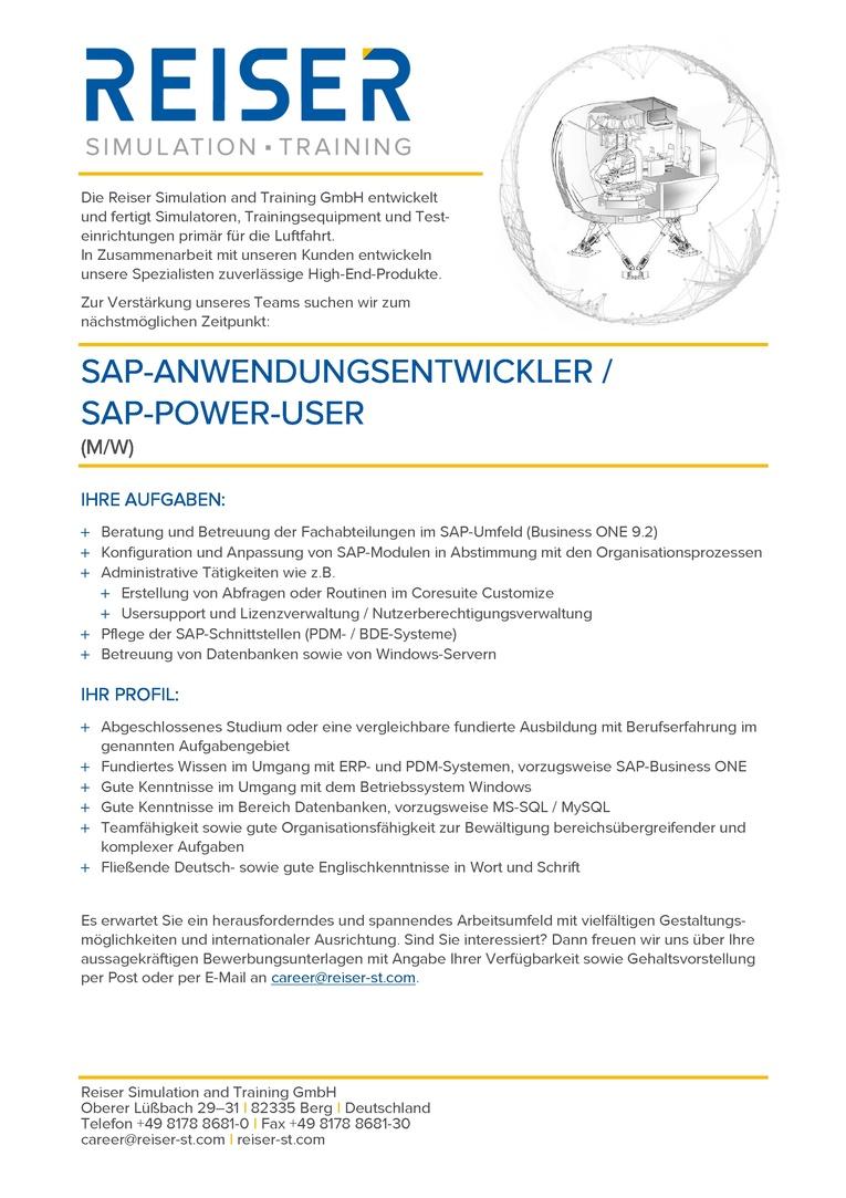 SAP-Anwendungsentwickler (m/w)