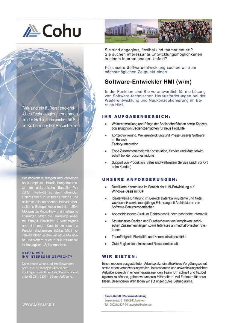 Software Entwickler HMI (w/m)