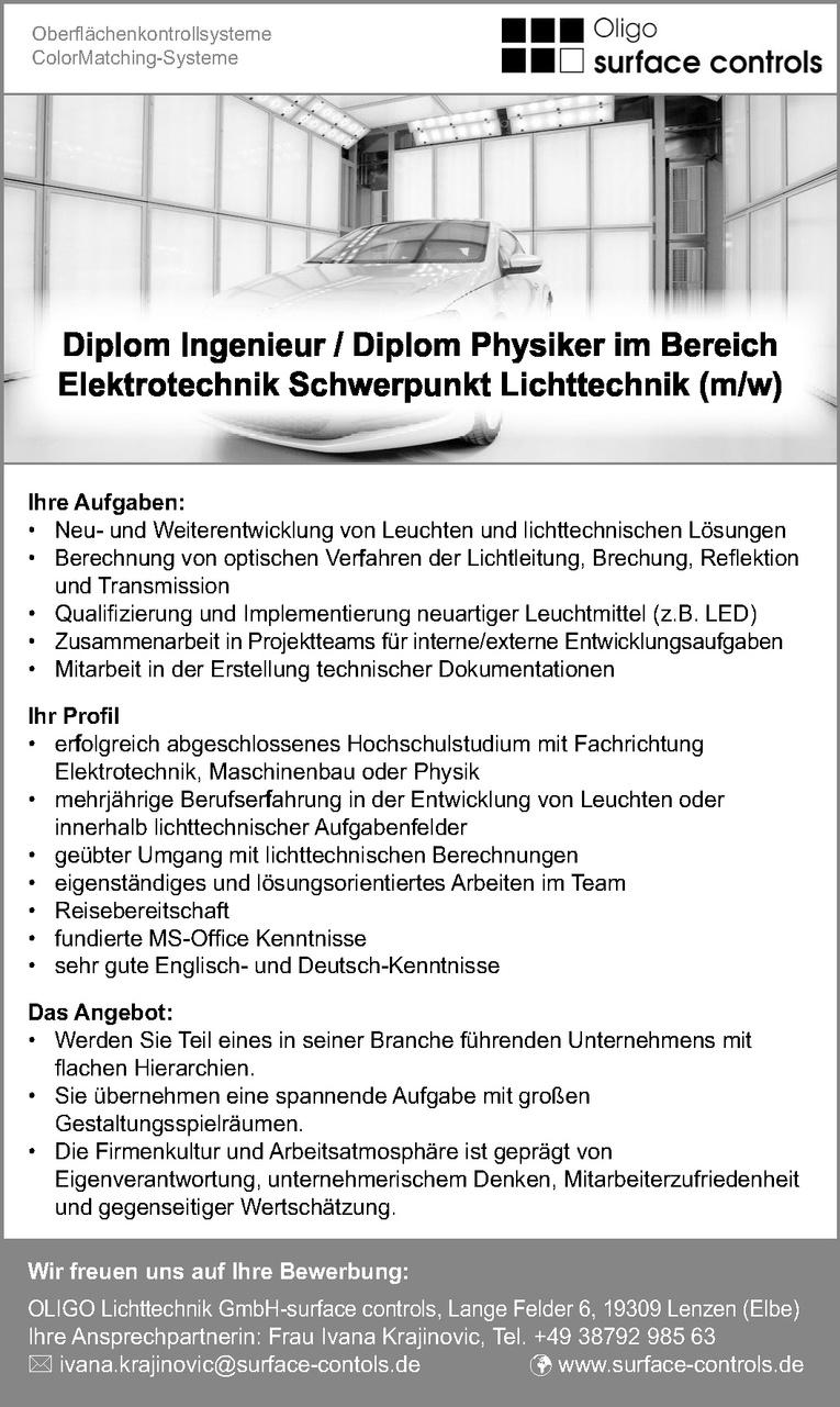 Diplom Ingenieur / Diplom Physiker (m/w)