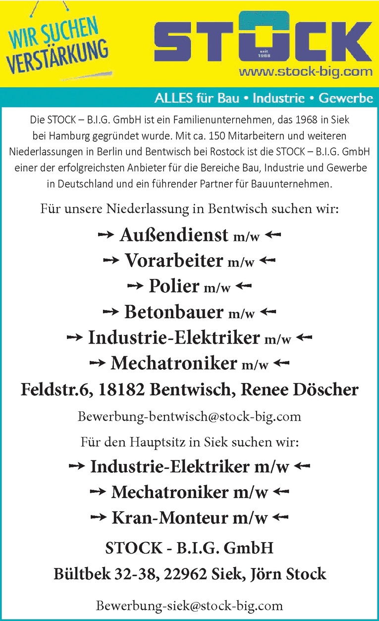 Mechatroniker m/w