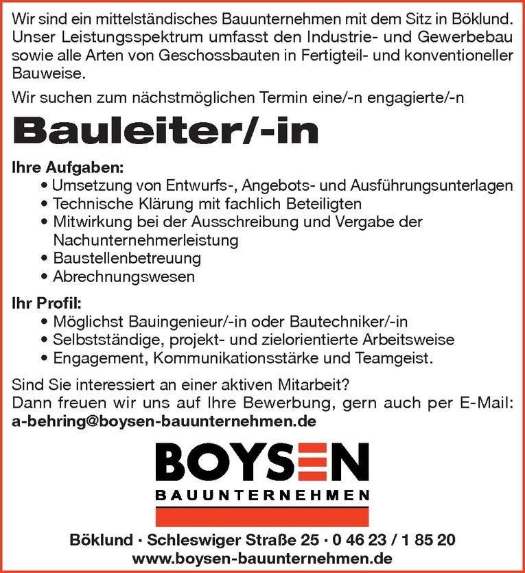 Bauleiter/-in