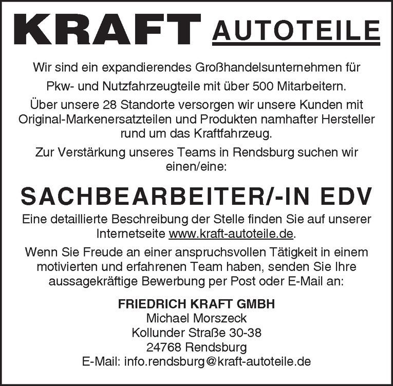 Sachbearbeiter/-in EDV