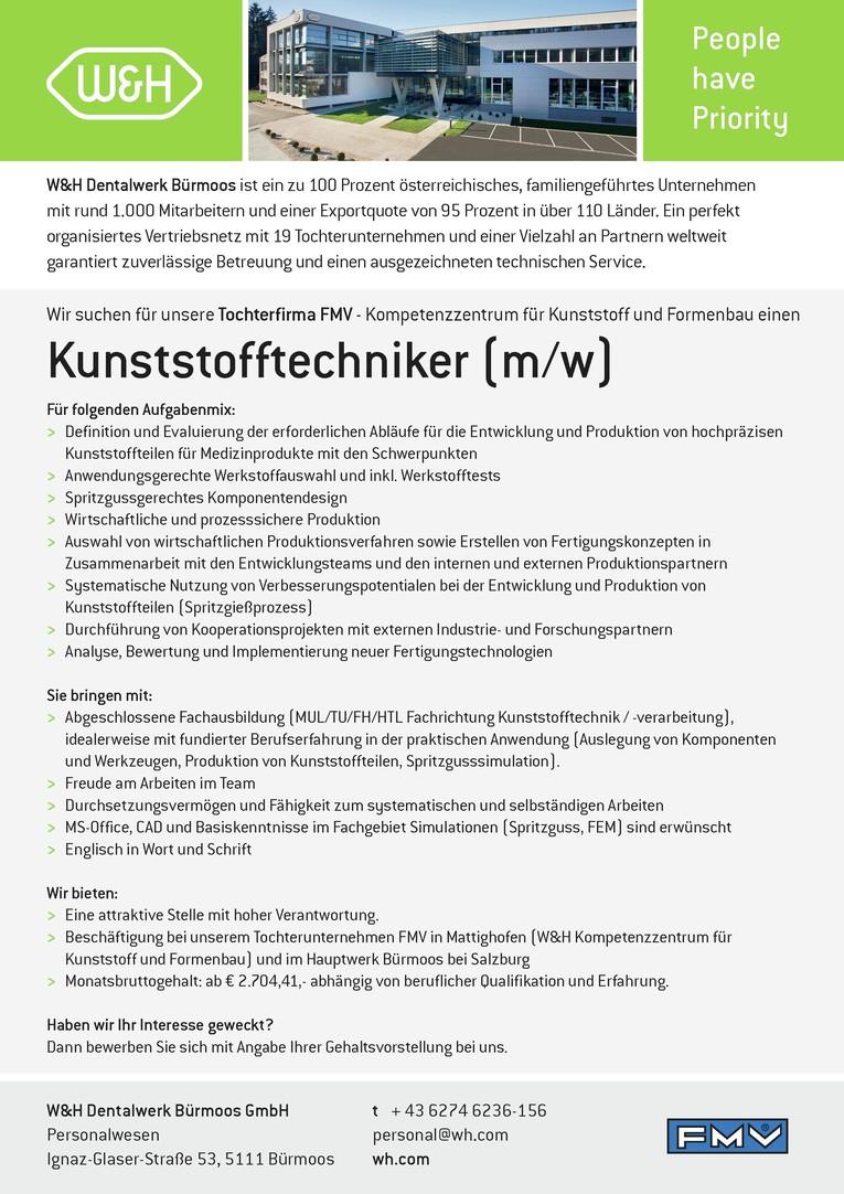 Kunststofftechniker (m/w)