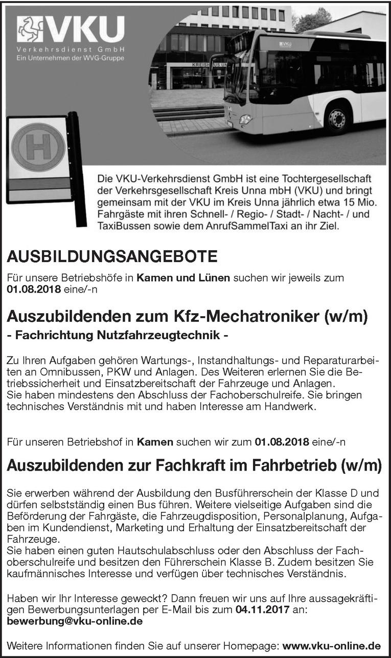 Auszubildenden zum Kfz-Mechatroniker(w/m)