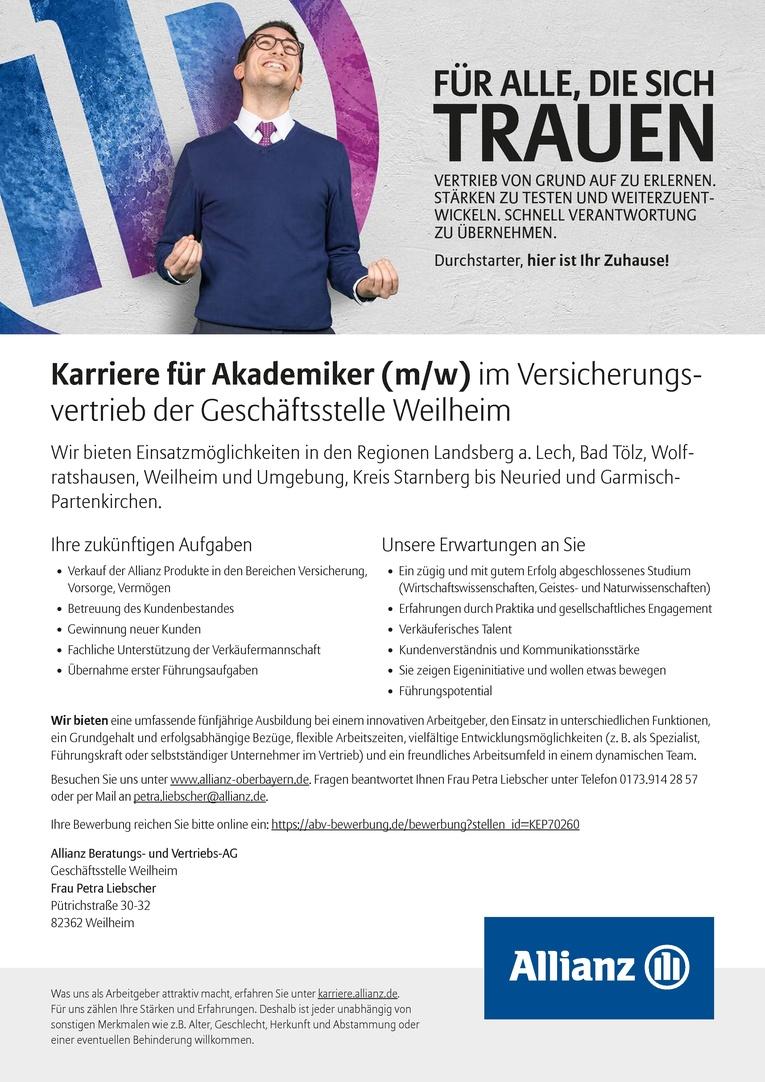 Allianz Karriereentwicklungsprogramm Vertrieb