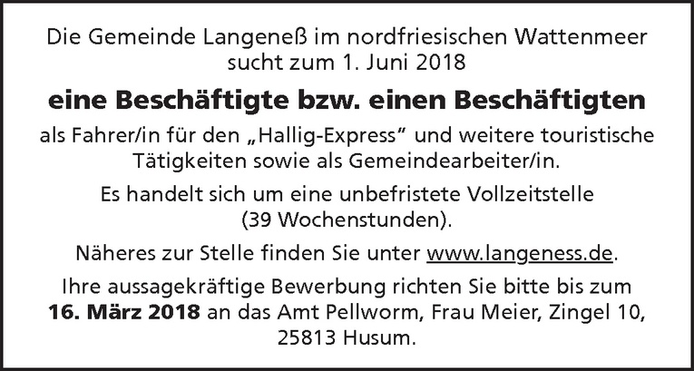 Fahrer/in Hallig-Express
