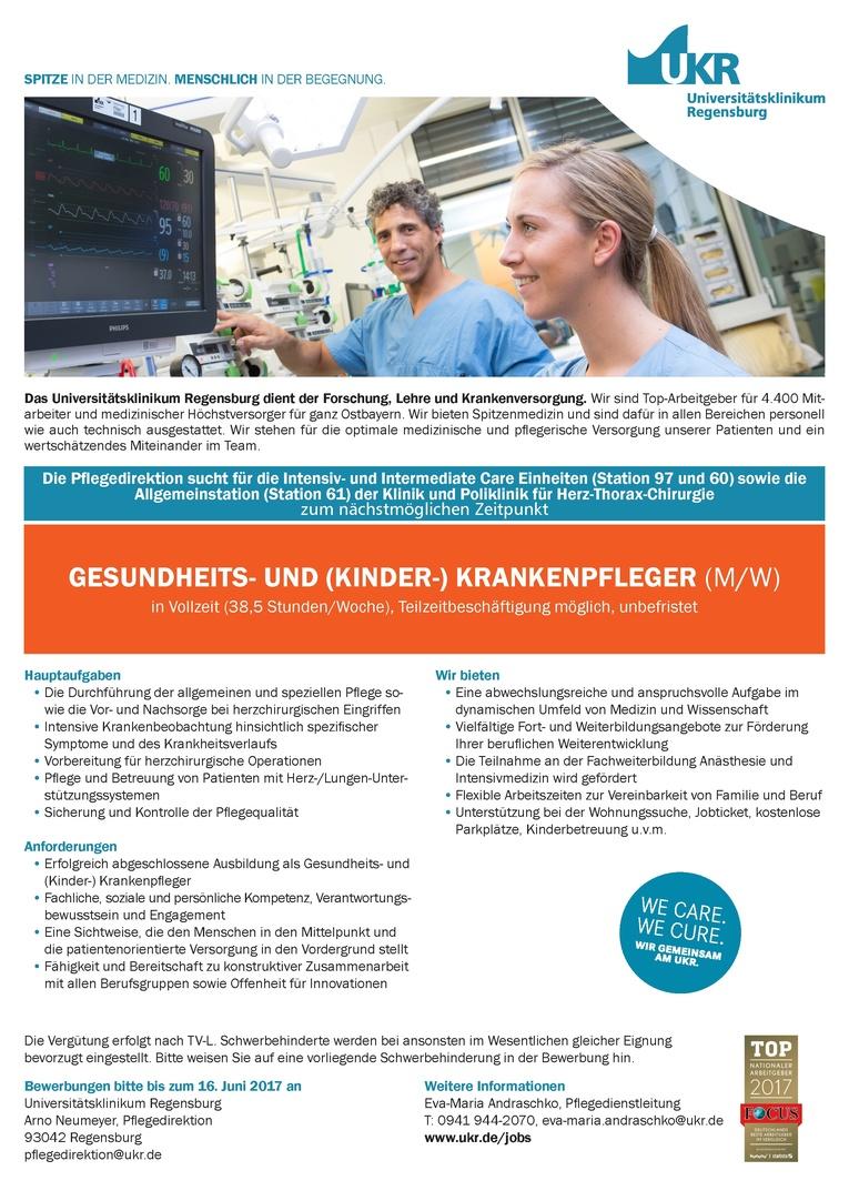 GESUNDHEITS- UND (KINDER-) KRANKENPFLEGER (M/W)