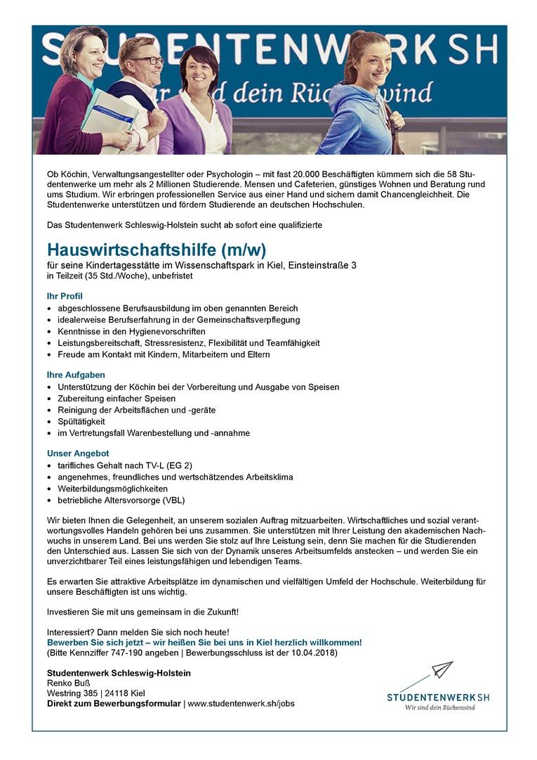 Hauswirtschaftshilfe (m/w)