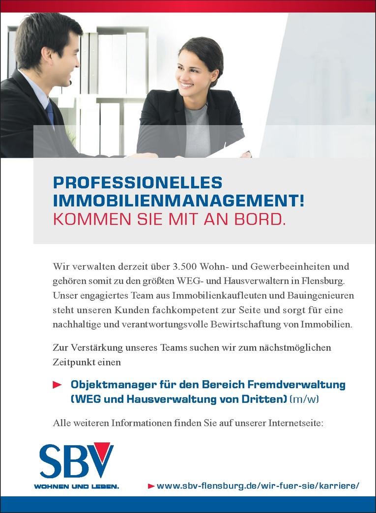 Objektmanager für den Bereich Fremdverwaltung (m/w)