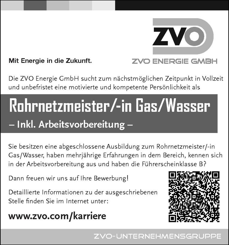 Rohrnetzmeister/-in Gas/Wasser