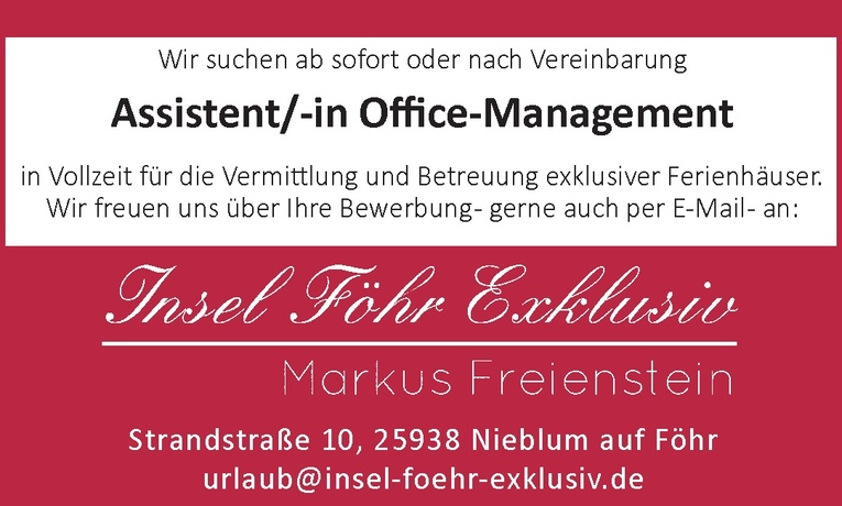 Assistent/-in Office-Management