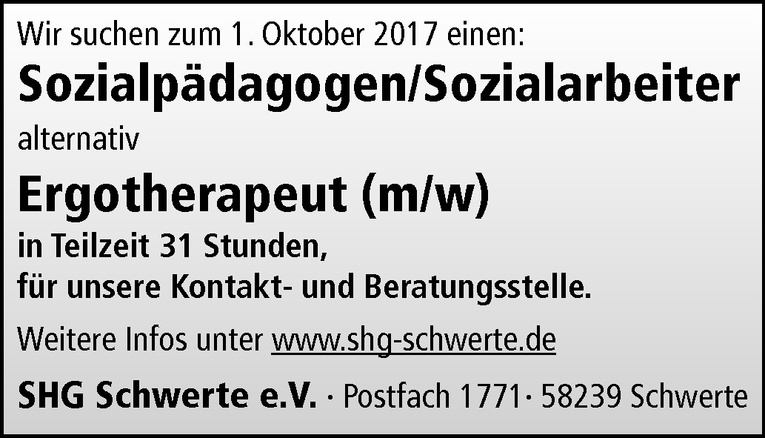 Sozialpädagogen/Sozialarbeiter (m/w)