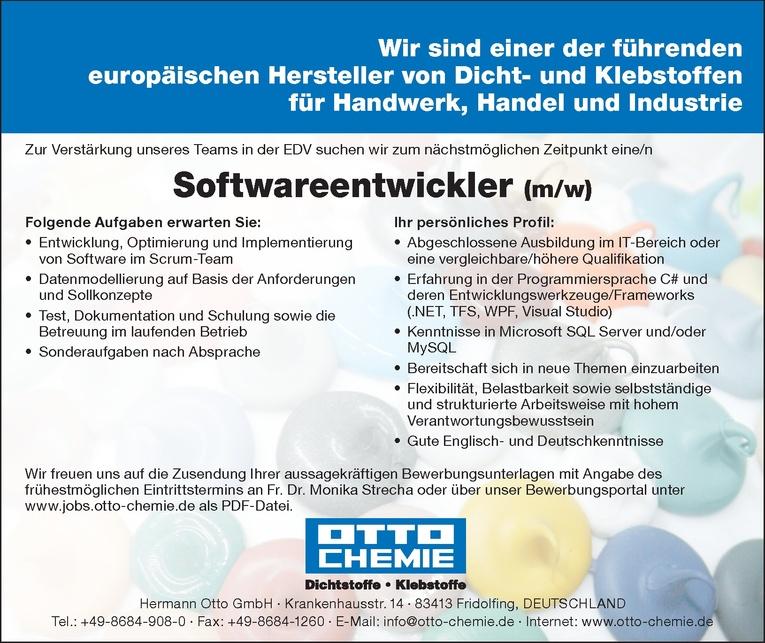 Softwareentwickler (m/w)