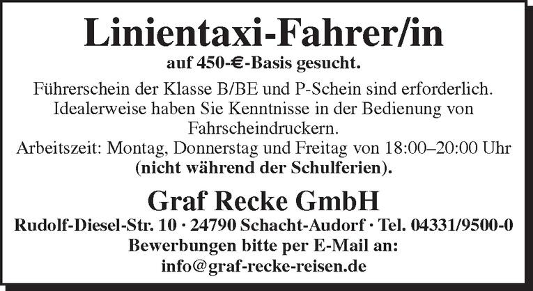 Linientaxi-Fahrer/in