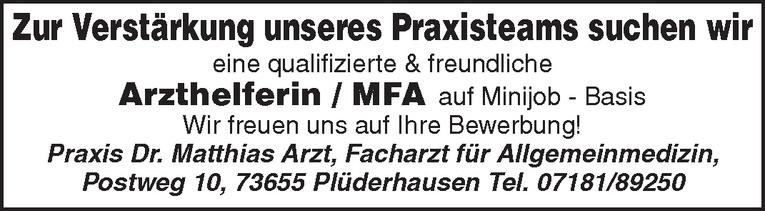 Arzthelferin / MFA