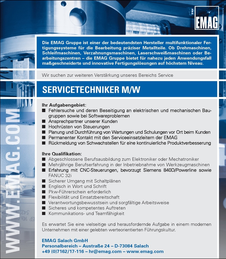 SERVICETECHNIKER M/W