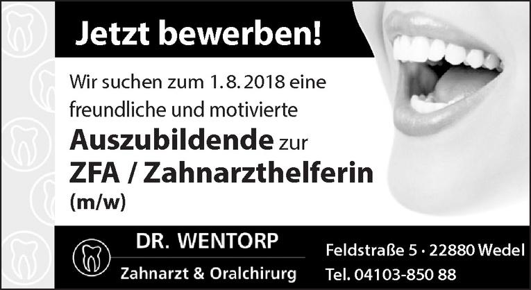 Auszubildende zur ZFA / Zahnarzthelferin (m/w)