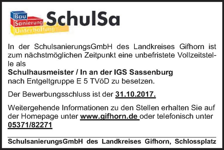 Schulhausmeister /in