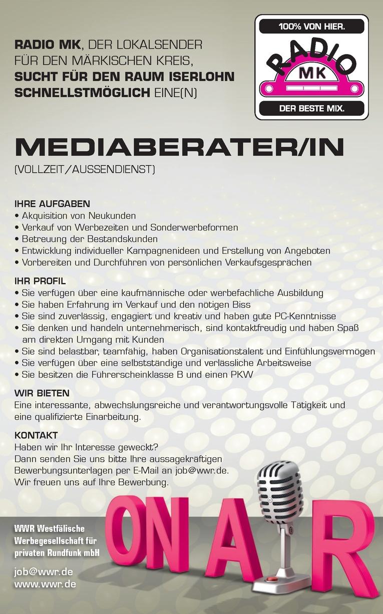 Mediaberater (m/w) im Außendienst