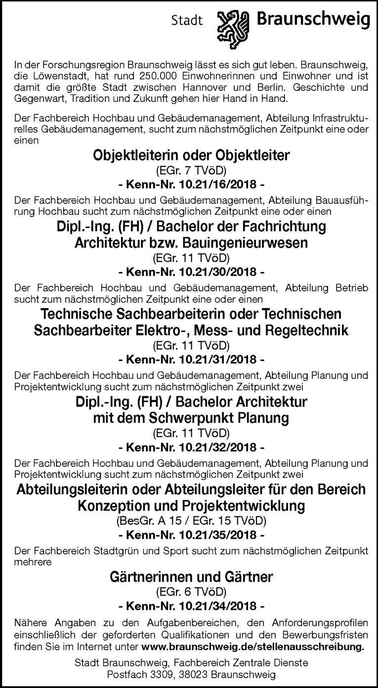 Dipl.-Ing. (FH) / Bachelor Architektur mit dem Schwerpunkt Planung (m/w)
