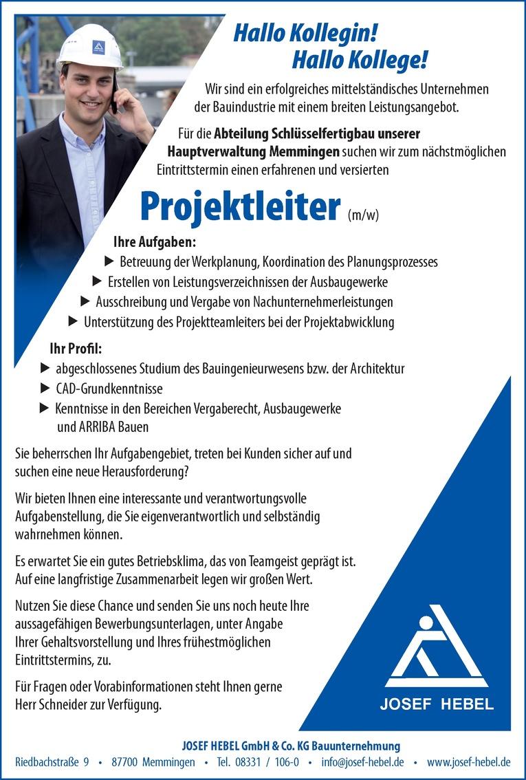 Projektleiter (m/w)