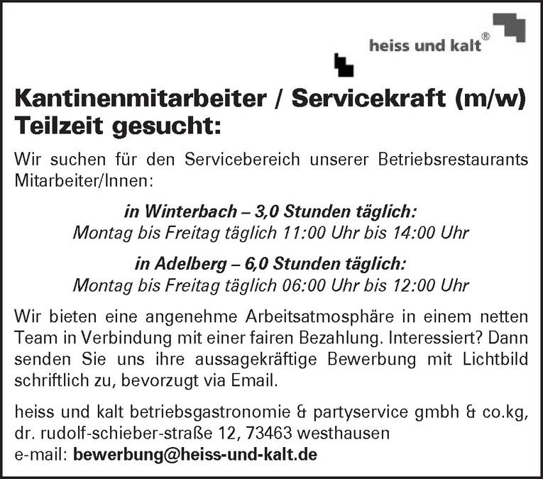 Kantinenmitarbeiter / Servicekraft (m/w)