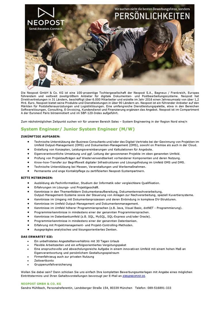 System Engineer/ Junior System Engineer (M/W)