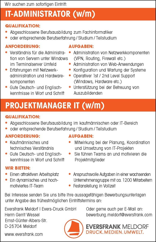 IT-Administrator (w/m)