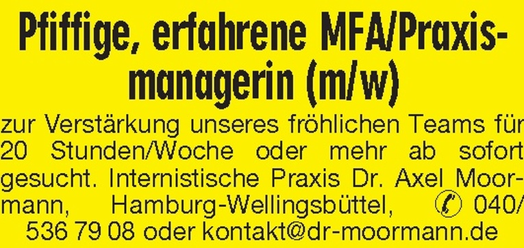 MFA/Praxismanagerin (m/w)