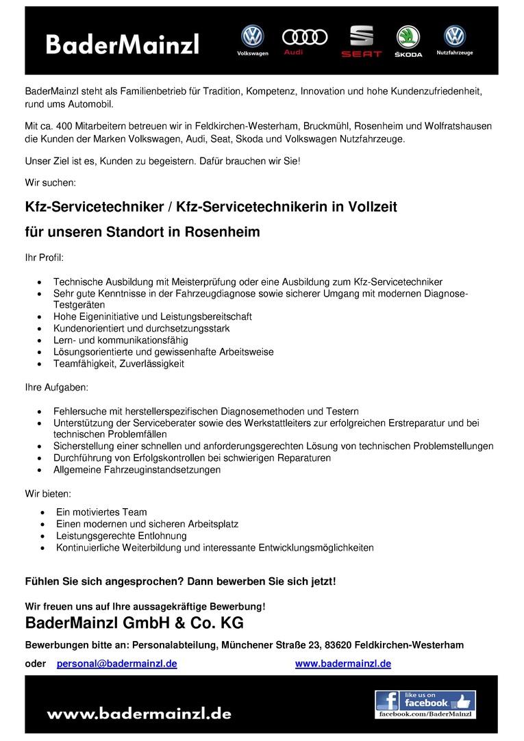 Kfz-Servicetechniker / Kfz-Servicetechnikerin