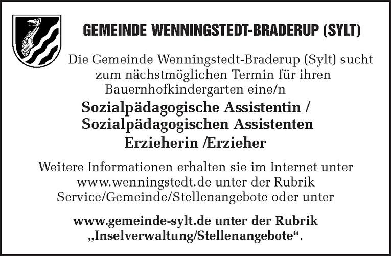 Sozialpädagogische Assistentin / Sozialpädagogischen Assistenten