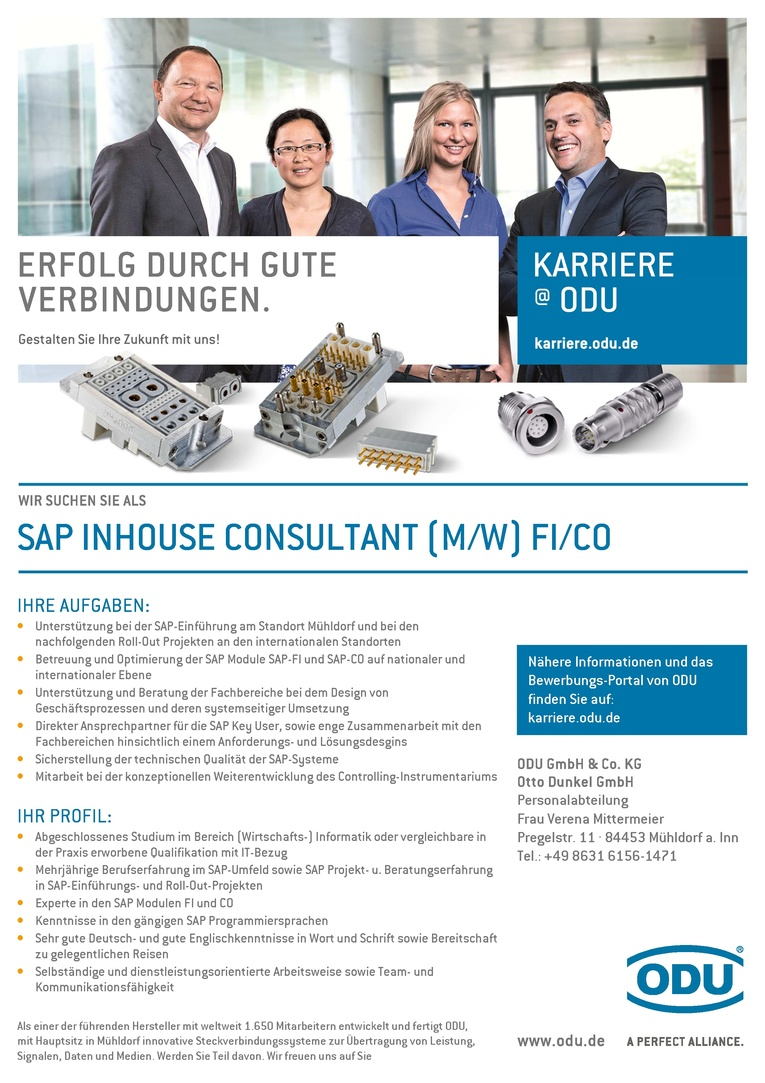 SAP Inhouse Consultant (m/w) FI / CO