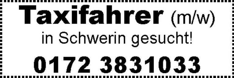 Taxifahrer (m/w)